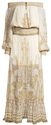 Camilla Shirred Silk Maxi Dress