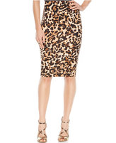 Thalia Sodi Animal-Print Scuba Pencil Skirt
