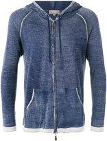 N.Peal printed long sleeve hoodie - men - Silk/Cashmere - S