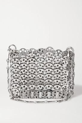 Paco Rabanne Nano 1969 Paillette-embellished Chainmail Shoulder Bag - Silver