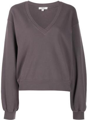 AGOLDE V-neck cotton sweatshirt