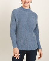 Chico's Chicos Marled Mock-Neck Pullover Sweater