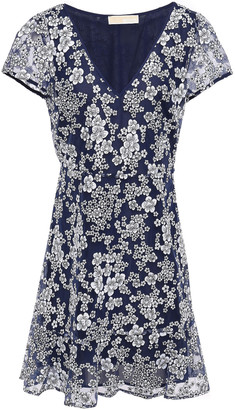 MICHAEL Michael Kors Flared Embroidered Tulle Mini Dress