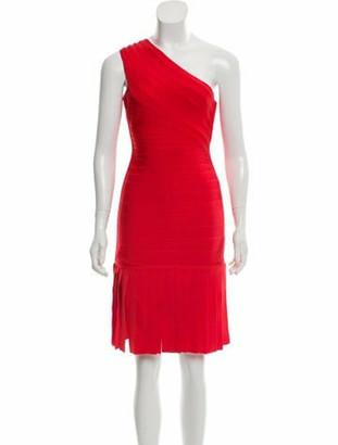Herve Leger Renee Bandage Dress Red