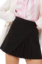 Topshop Women's Pleated Panel Miniskirt