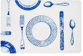 Vinyl Placemats Table Mats Plastic Placemats Wipe Off Beach Decor Set of 6 Blue Vintage