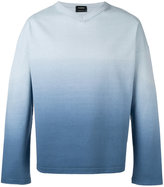 Jil Sander ombre V-neck sweater