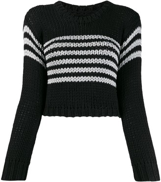 RtA cropped striped sweater