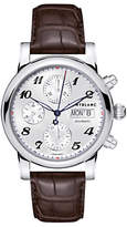 Montblanc 106466 Unisex Star Collection Automatic Chronograph Day Date Leather Strap, Brown/silver