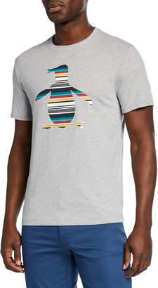Original Penguin Penguin Men's Engineered Stripe Pete Graphic T-Shirt