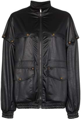 Gucci oversized technical bomber jacket