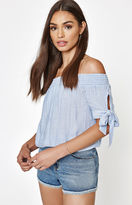 KENDALL + KYLIE Kendall & Kylie Tie Sleeve Off-The-Shoulder Top