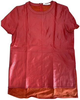 Givenchy Red Leather Top for Women