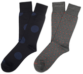 Etiquette Clothiers Ball Point and Big Dot Mercerized Socks (2 PK)