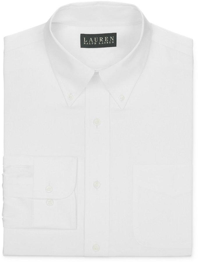 Lauren Ralph Lauren Non-Iron Slim-Fit White Pinpoint Dress Shirt