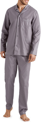 Hanro Men's Maxim Pin-Dot Cotton Pajama Set