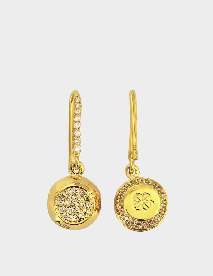 Aurelie Bidermann Fine Jewellery - 18K Gold Grelot Earrings With Diamonds