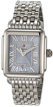 Michele Deco Madison Mid - Blue Sunray Dial (Silver) Watches