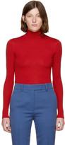 Calvin Klein Red 205 Jersey Turtleneck