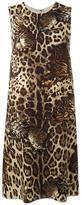 Dolce & Gabbana Bengal cat print dress - women - Silk/Spandex/Elastane/Wool - 42