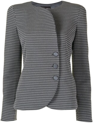 Emporio Armani Round Neck Blazer Jacket
