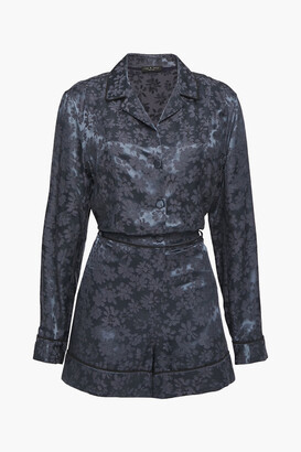 Rag & Bone Satin-jacquard Playsuit