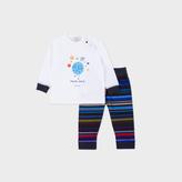 Paul Smith Baby Boys' White Moon Walk Print 'Mungo' Pyjamas