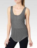 Paige Shaelyn Stripe Tank - Black/White Mini Stripe