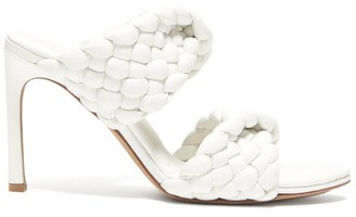 Bottega Veneta Padded Intrecciato-leather Mules - White