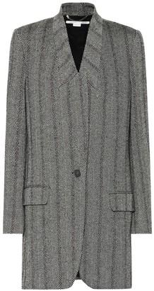 Stella McCartney Herringbone wool-blend coat