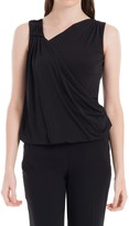 Max Studio Top With Drape Front Detail