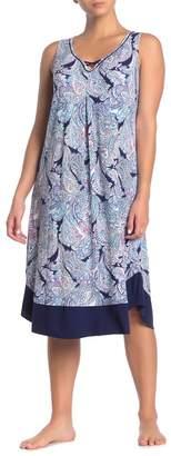 Ellen Tracy Paisley Sleeveless Nightgown