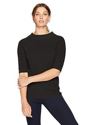 Lark & Ro Amazon Brand Women's Sweater Half Sleeve Cashmere Sweater