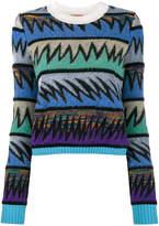 Missoni geometric crew neck sweater