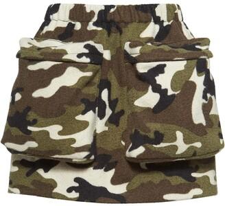 Miu Miu camouflage print mini-skirt