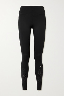 Nike Epic Lux Perforated Dri-fit Leggings - Black