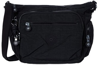Kipling Gabbie Small Crossbody Bag (Black Noir) Handbags