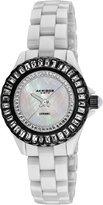 Akribos XXIV Women's AK518BKW Ceramic Quartz Baguette Bracelet Watch