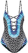 Mara Hoffman Samba Printed Swimsuit - Black