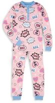 Petit Lem Girl's Two-Piece Text Bubble Pajama Set