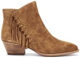 Ash Women's Lenny Suede Tassel Ankle Boots Russet