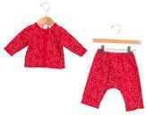 Petit Bateau Girls' Floral Print Two-Piece Pants Set