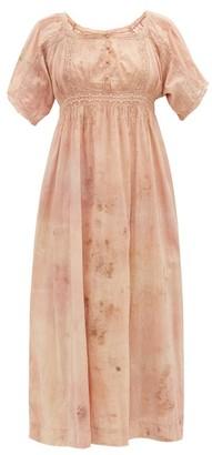Mimi Prober - Maria Botanical-dyed Cotton-voile Dress - Pink