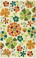 Couristan Beachfront Collection Poppy Field Rug
