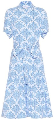 Carolina Herrera Printed stretch-cotton dress