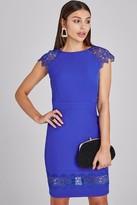Paper Dolls Chapel Cobalt Lace-Trim Bodycon Dress