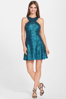Dress the Population Helene Sequined Skater Dress