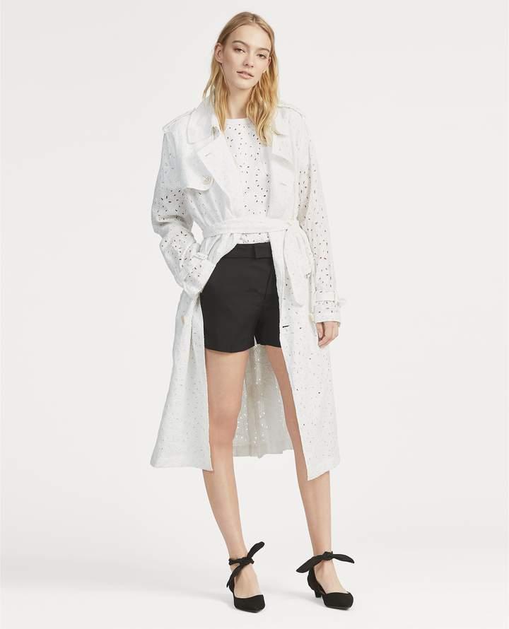 Ralph Lauren Eyelet Linen Trench Coat