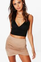 boohoo Petite Lydia Two Pack Ruched Wrap Detail Skirt