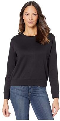 Alternative Cotton Modal Interlock Pullover Crew Neck Sweatshirt (Black) Women's Sweatshirt